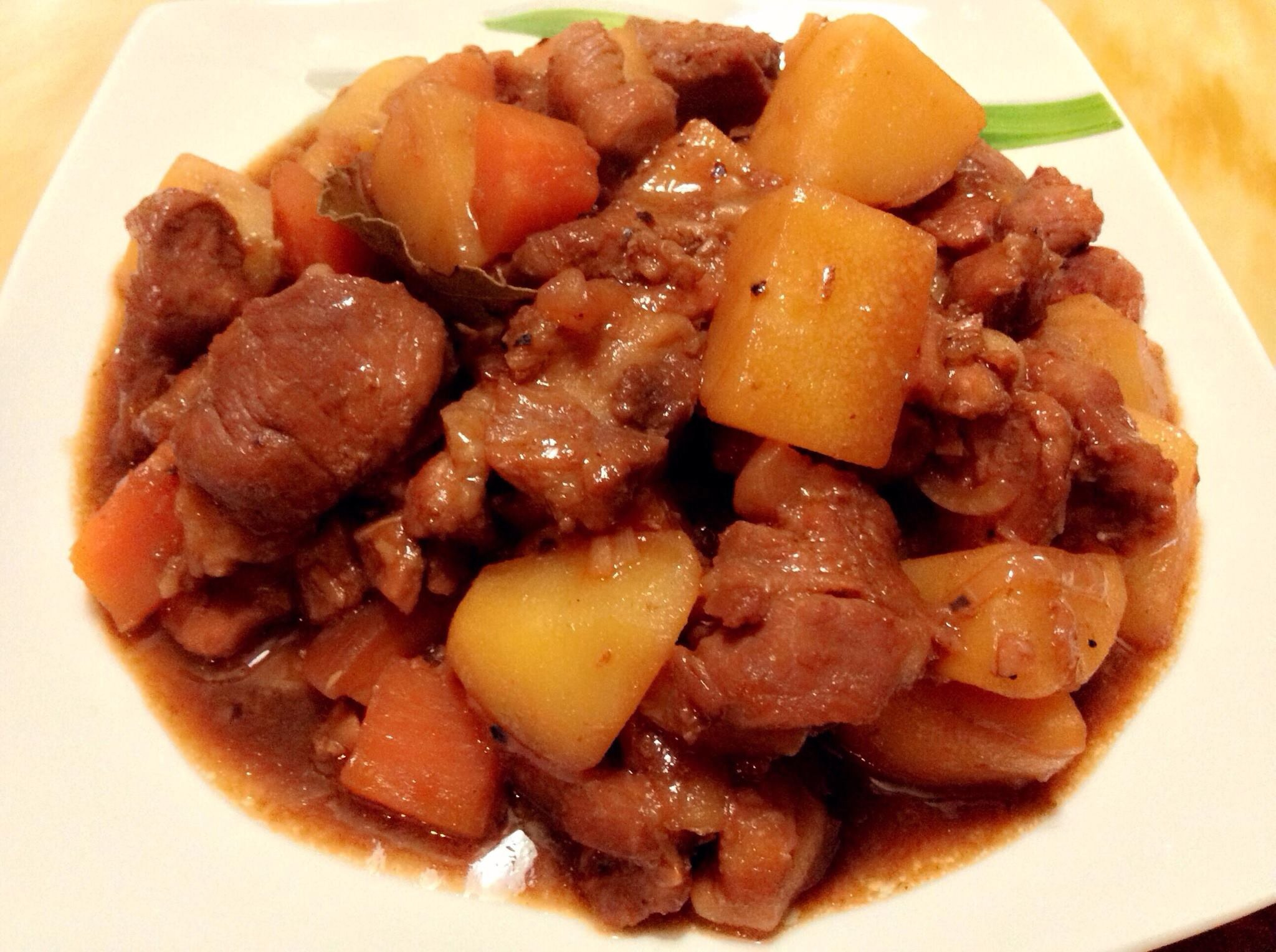 how to cook pork adobo with potato